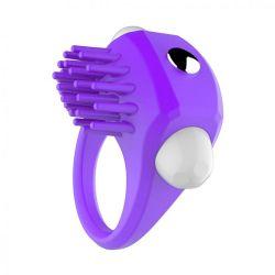 Vibrační kroužek s masérem klitorisu Fialová
