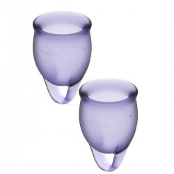 Menstruační kalíšky SATISFYER FEEL CONFIDENT MENSTRUAL CUP purple
