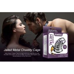 LOVETOY Jailed Metal Chastity Cage BDSM