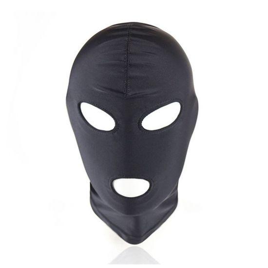 Maska černá s otvorem na oči a ústa