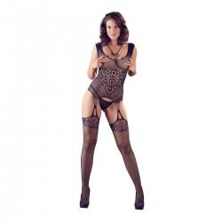 Catsuit NO:XQSE CAMI Suspender Set S-L black