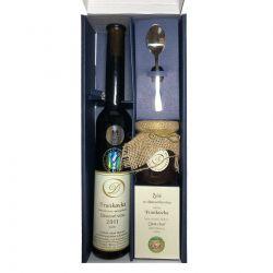 Dárkové balení slámové víno Frankovka plus želé a malá lžička