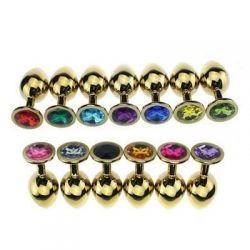 Kolík anální JEWELLERY PLUG Jewellery in Gold